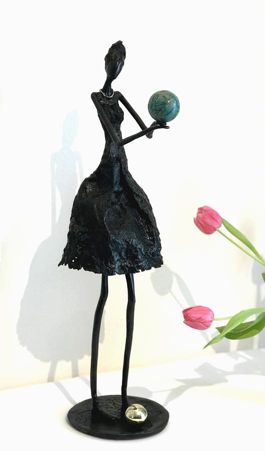 Le mystère - Bronze et Chrysocolle -Magali Willems Prix sculpture SPAF Bretagne - 2018