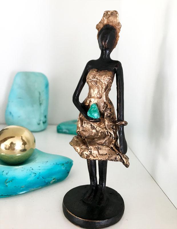 choriné - bronze -oeuvre unique - Magali Willems