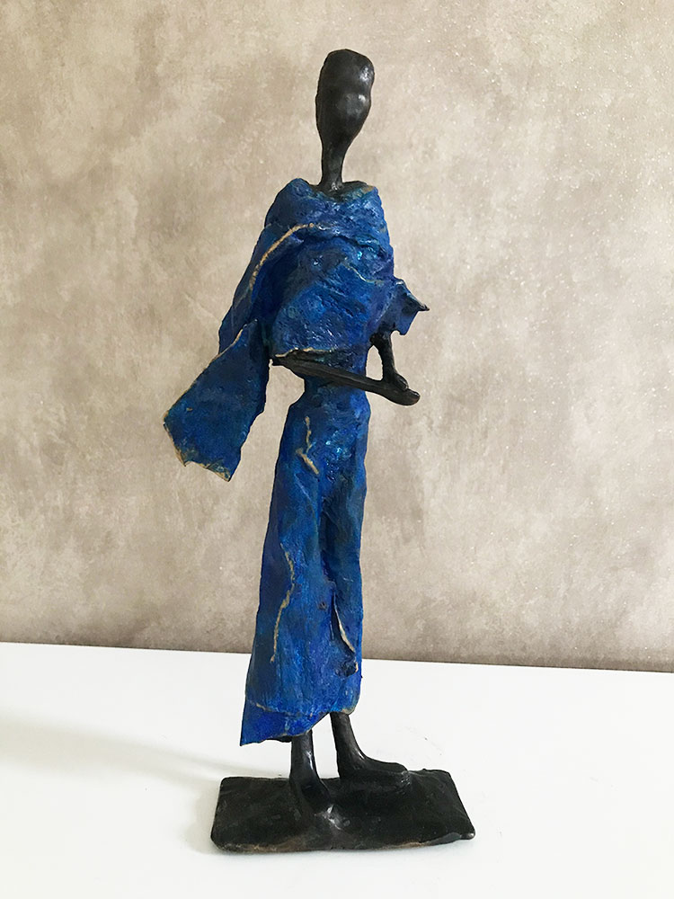 Sahara - Femme en bleu