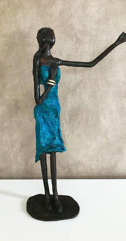 Paroles du coeur - bronze oeuvre unique