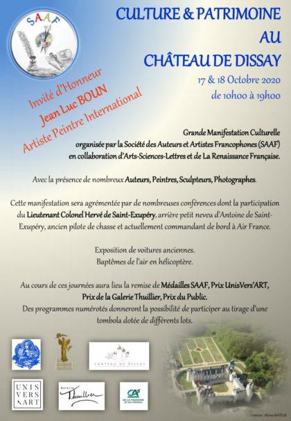 programme chateau de dissay 17 _18 Oct 2020